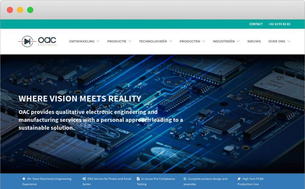 nieuwe website oac